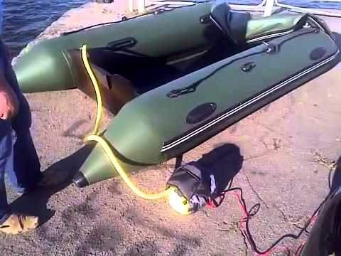 накачать лодку пвх насосом видео
