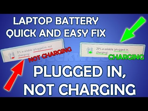 HOW TO FIX PLUGGED IN. NOT CHARGING LAPTOP BATTERY DIY EASY REPAIR