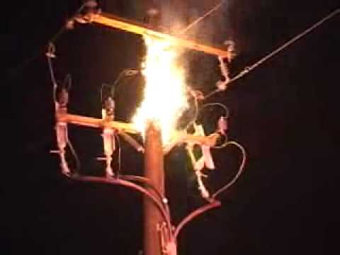 POWER POLE FIRE EXPLOSIONS MAJOR CAR ACCIDENT YouTube