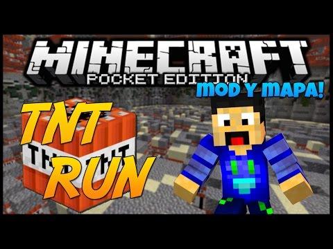 Minecraft PE: TNT RUN! MOD (Android) + Mapa!