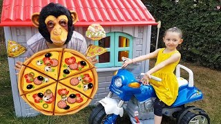 Öykü Kimden Pizza Aldı - Play house pizza bought - Funny video For Kids - Oyuncak Avı