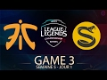 Lagu FNATIC VS SPLYCE • GAME 3 - LCS EU 2017 - Week 5 - Day 1