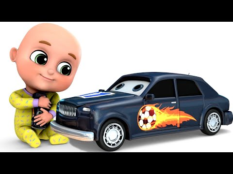 Surprise Eggs | Racing Car Toys for kids - Grey Cartoon Car | Surprise Eggs Toys from Jugnu Kids