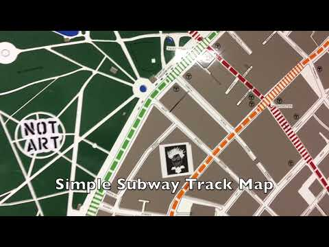 MBTA Track Maps at the Winter Street Concourse