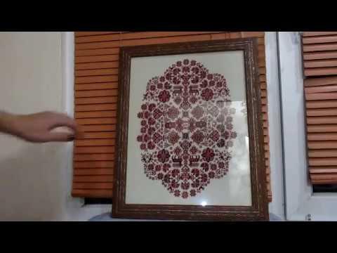 Вышивка крестиком - оформленный сэмплер