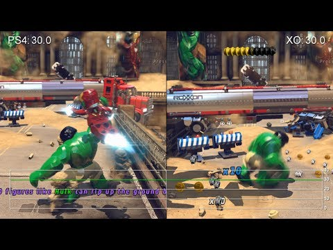 Lego Marvel Super Heroes: PS4 vs. Xbox One Frame-Rate Tests