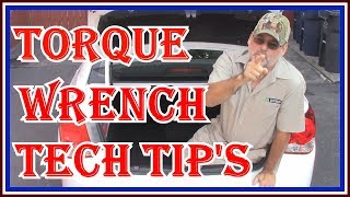 HOW TO USE A TORQUE WRENCH   | TOP TECH WITH OVER 40 YEARS EXPERIENCE