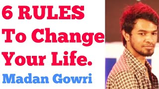 6 Rules to Change YOUR LIFE | Tamil | Madan Gowri | MG | Motivation