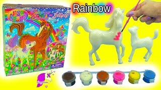 Lisa Frank Do It Yourself Custom Painting Horses Craft Kit Rainbow Chaser & Lollipop