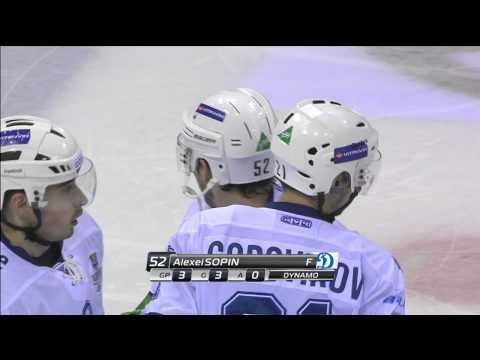 Сопин вновь огорчает Конрада / Dynamo's rookie Sopin scores again