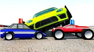 Police Use R/C Cars for Roadblock - BeamNG Drive