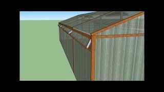 Construcción Invernadero Cenital 10x4 mts paso a paso.mp4