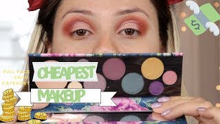 FULL FACE OF MY CHEAPEST MAKEUP | EACH CATEGORY | GIO DREVELI