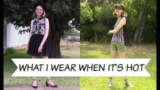 WHAT I WEAR WHEN IT'S BOILING HOT / SUMMER LOOKBOOK | FashionablyThrifty