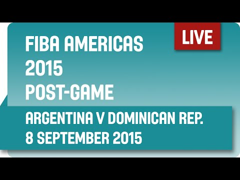 Post-Game: Argentina v Dominican Republic - Second Round -  2015 FIBA Americas Championship