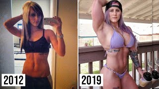 WORKOUT MUSCLE TRANSFORMATION FBB HULK GIRL Sky Kinsman
