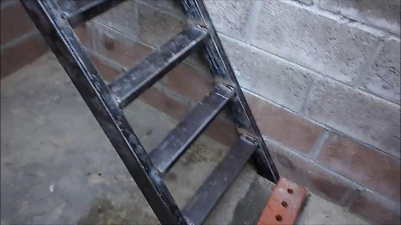 Как сделать лестницу в погреб из металла