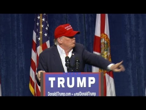 Donald Trump 'politely' removes protester from ...