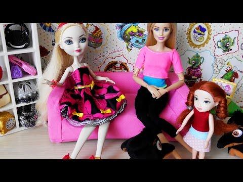 Мультики с куклами Барби и Эвер Афтер Хай Пропажа Уголька Мультфильм Barbie Стоп Моушен Куклы Шоу 41