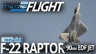 Freewing F-22 Raptor 90mm EDF Jet - Flight Review - Motion RC