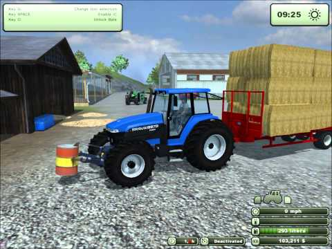 Farming Simulator 2013: Episode 4 Stacking Bales (Extreme Baling Pack)