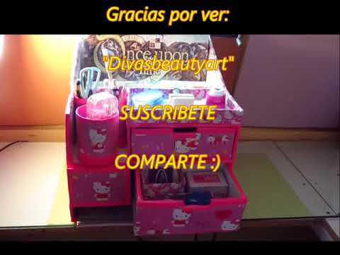 Diy. Organizador para papeleria, scrapbook, y  materiales escolares  Hello Kitty