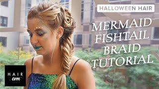 Mermaid Fishtail Braid Halloween Hair Step-by-Step Tutorial
