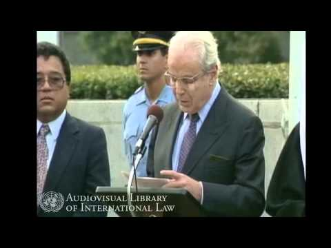 Flag Raising Ceremony for new United Nations Member States -- 1991