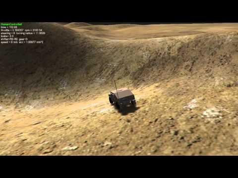 High-Fidelity Simulation of Unmanned Ground Vehicle Operating in Rough Terrain