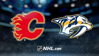 Giordano nets OT winner as Flames beat Predators, 6-5