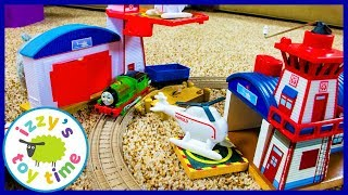 Thomas and Friends Trackmaster Harold's Helipad! Fun Toy Trains for Kids with Percy