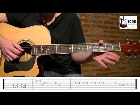 Como Tocar La Pantera Rosa En Guitarra Acústica Completo! / Tutorial fácil para principiantes TCDG