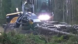 WOW !!! Alat Penebang Pohon Menggunakan Robot