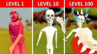 Villager Becomes Skeleton King - TABS Story - Totally Accurate Battle Simulator Mods