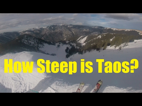 How Steep is Taos Ski Valley?