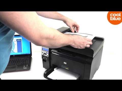 Топика ХХК HP Laserjet Pro 100 Color MFP M175NW review en unboxing NLBE