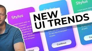 New UI Design Trends - Vibrant Gradients & Colored Drop Shadows!