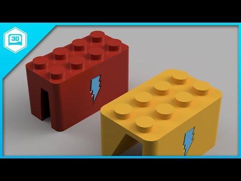 Fusion 360 Tutorial – Parametric Lego Parts