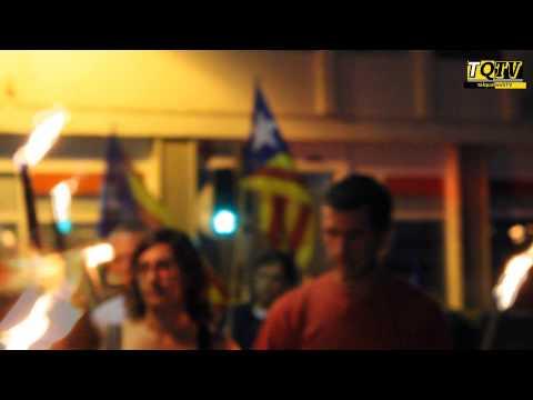 Milers de terrassencs reclamen la independència homenatjant els caiguts al 1713