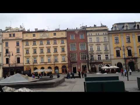 A Walk Round Krakow City Centre in Poland