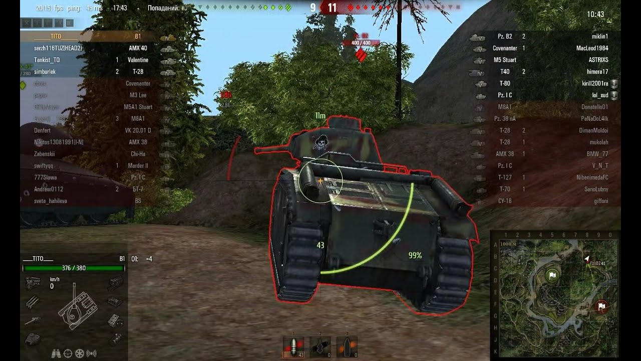 Супербронированый танк Pz B2 - YouTube