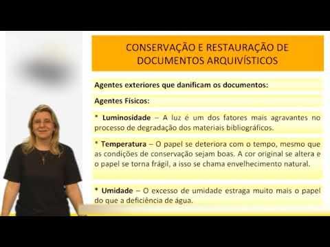 Arquivologia - Conservação Documentos - Vídeo Aula Concurso 2014