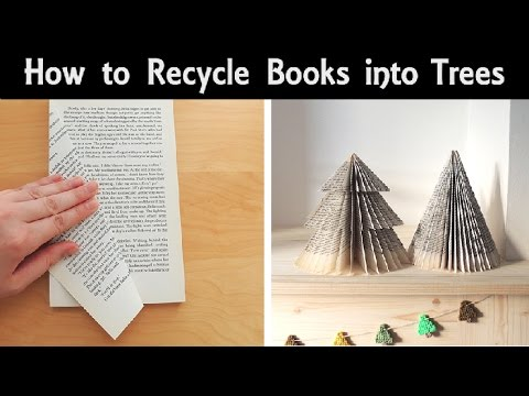 How to Make Trees from Books! | Cone Shapes & Christmas Tree Shapes | DIY Recycled Book Ornaments
