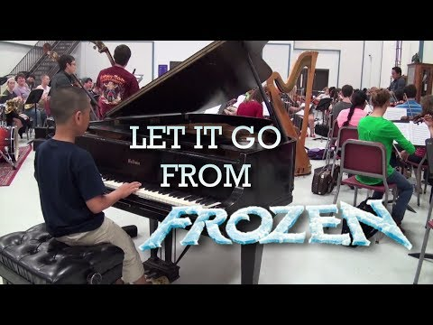 Let It Go from Frozen rehearsal with orchestra