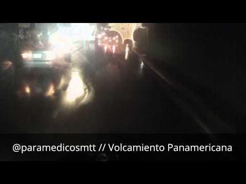 Paramedicos Motorizados // Vehiculo Volcado en km 8 PNM