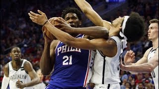 Joel Embiid Throws NASTY Elbow At Allen For Flagrant 1 Foul | 76ERS vs NETS | NBA Playoffs | 4.15.19