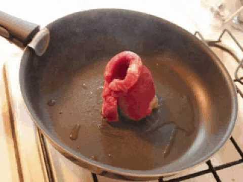 【動画】厚みのないステーキの焼き方