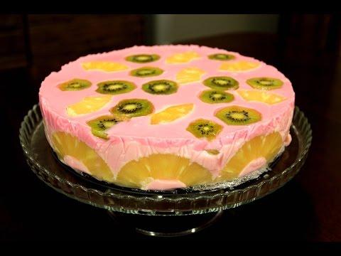 Йогуртово желейный торт. Простой, но весьма вкусный рецепт.