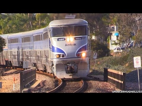 Amtrak Trains in Encinitas + BONUS SHOT (April 8th, 2014)