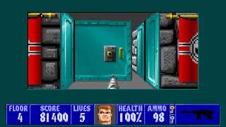[MS-DOS] Wolfenstein 3D - Floor 4 (Episode III)